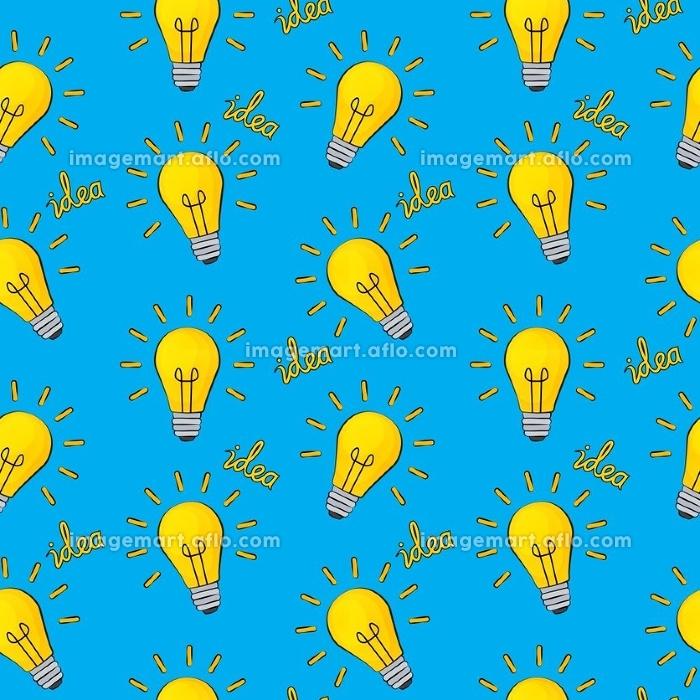 Idea Bulb Flat Design Icon Seamless Pattern Background. Vector Illustration EPS10. Idea Bulb Flat Design Icon Seamless Pattern Background. Vector Illustration