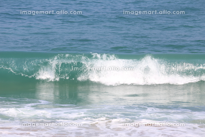 宮崎県日南海岸の穏やかな波の販売画像