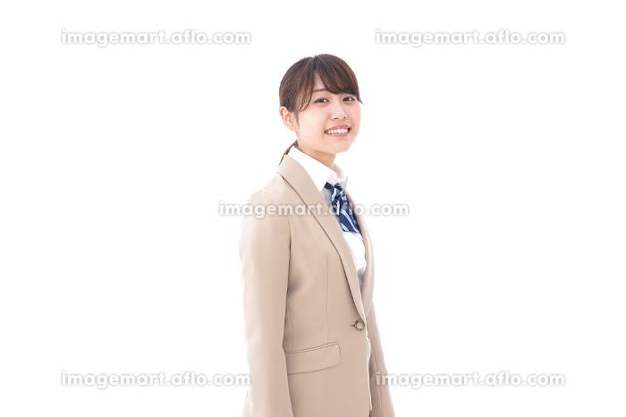 制服を着た笑顔の学生の販売画像