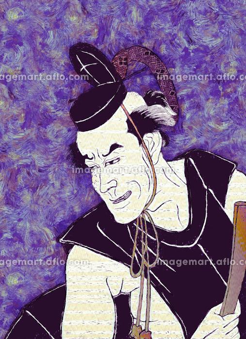 浮世絵 歌舞伎役者 その7 油絵バージョンの販売画像