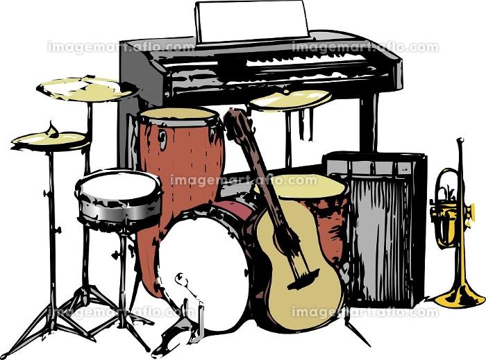 バンドの楽器類の販売画像