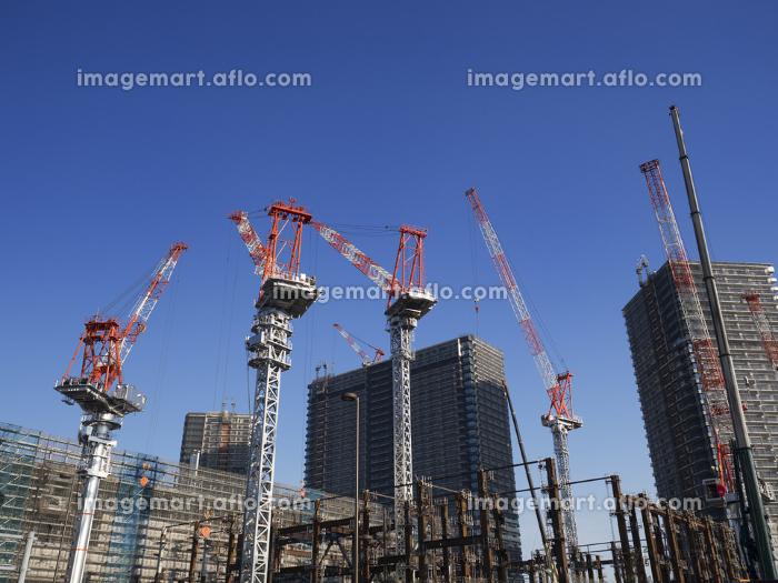 高層マンションの建設工事の販売画像