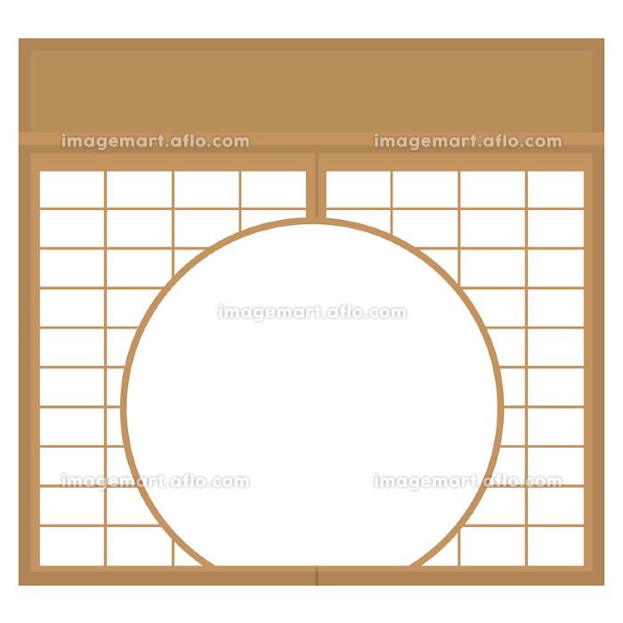 障子 丸窓 円窓 透過 イラスト素材 ベクター 単品の販売画像