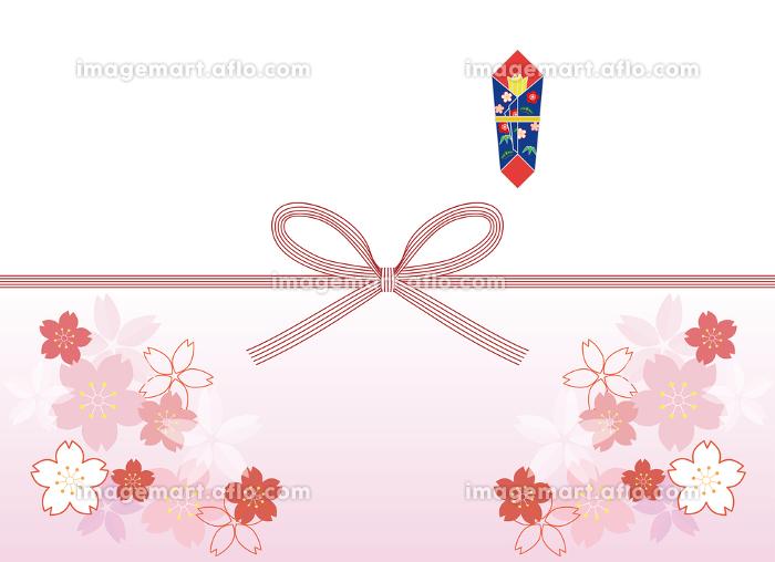 花柄つき のし紙の販売画像