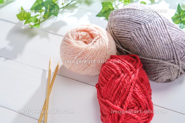 編み物 毛糸の販売画像
