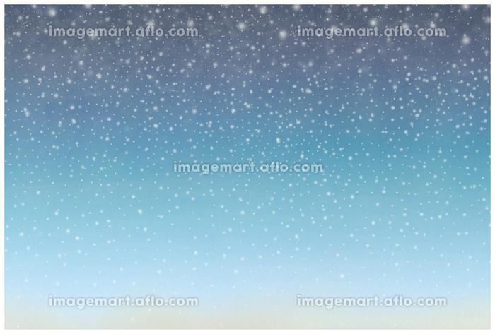 ロマンチックなハガキデザイン 星降る夜空 舞い落ちる雪の販売画像