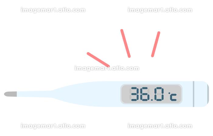 36.0度を示す体温計のイラスト