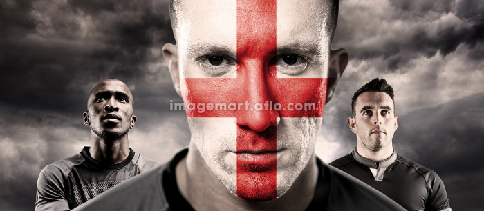 Composite image of english rugby playerの販売画像