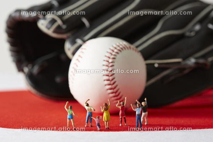 フィギュア 野球を応援する観客の販売画像