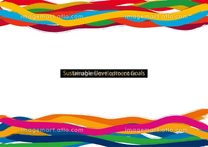 SDGs CMYK指定色(スウォッチ付)アブストラクトフレームの販売画像