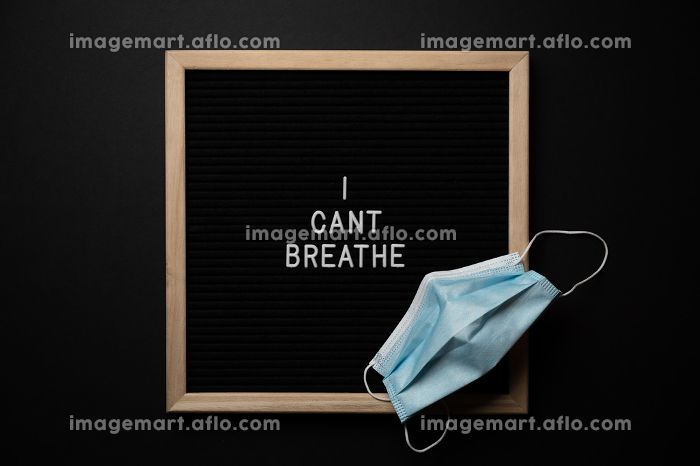 Black Lives Matter Protest Sign on a black background with covid , Boise, ID, United Statesの販売画像