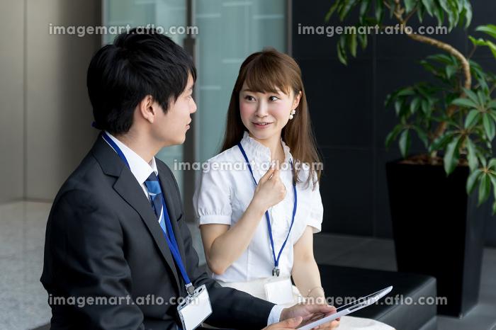 ビジネスイメージ・タブレットPC活用の販売画像