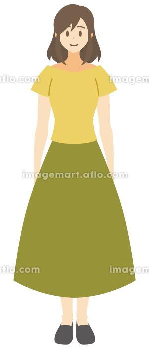 【家族ベクターイラスト素材】若い女性・お母さんのイラスト【人物】の販売画像