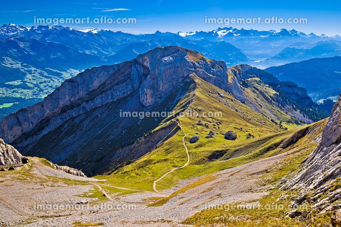 Alps mountain peaks on Pilatus viewの販売画像