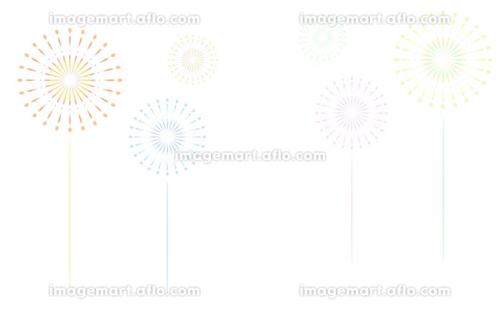 白色(透過)背景の打ち上げ花火の販売画像