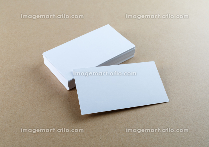 Photo of blank business cardsの販売画像