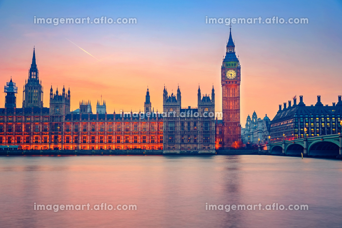 Big Ben and Houses of parliament, Londonの販売画像