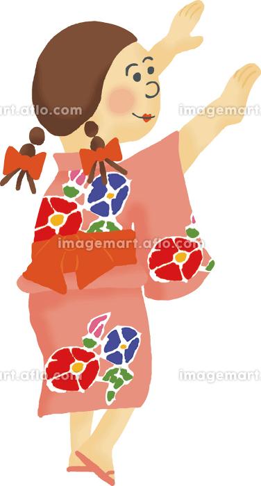 夏祭り 盆踊り 女の子の販売画像