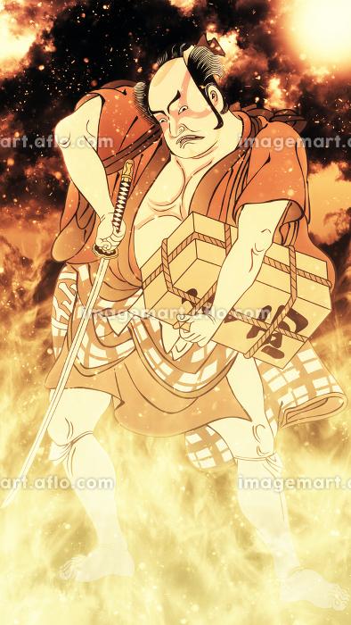 浮世絵 歌舞伎役者 その20 炎バージョンの販売画像