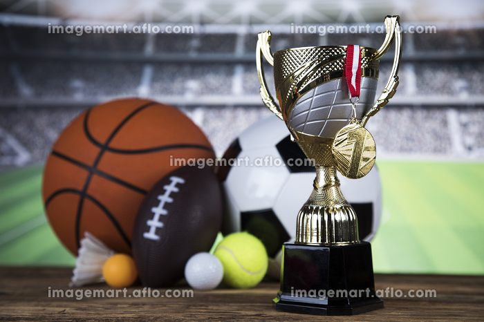 Trophy for champion, sport backgroundの販売画像