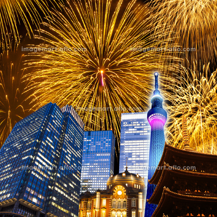 東京の花火大会イメージの販売画像