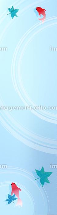 金魚と楓と波紋のお中元用バナー 160x600の販売画像