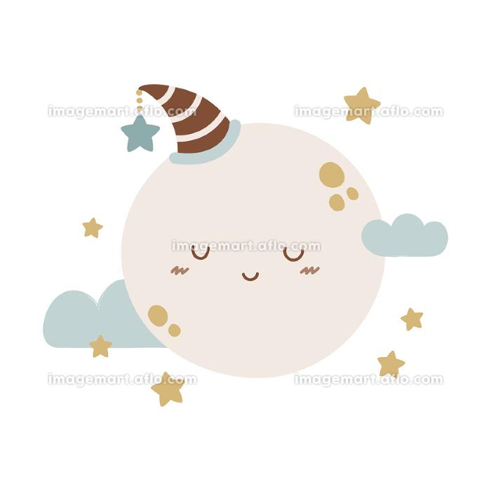 かわいい満月または惑星のキャラクターの販売画像