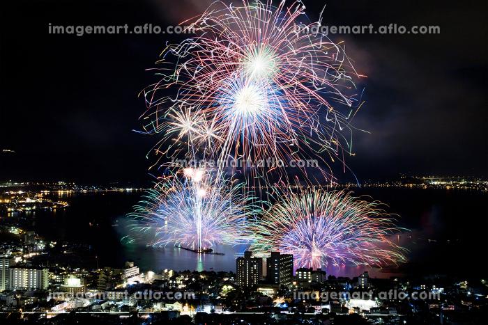 長野県の諏訪湖の花火大会の販売画像