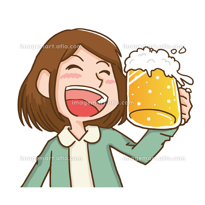 乾杯する女性