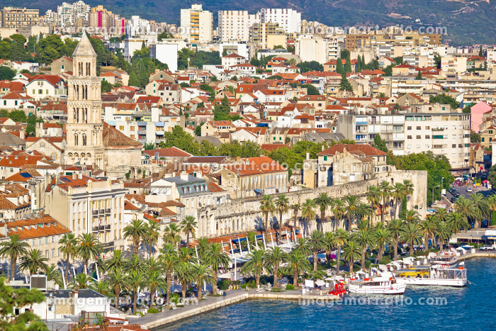 Split Riva waterfront and Diocletian's palace viewの販売画像