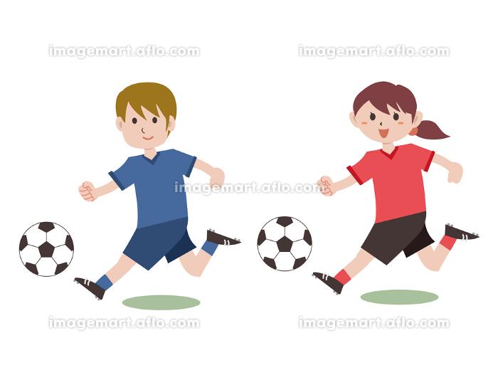 サッカー 走る 選手の販売画像