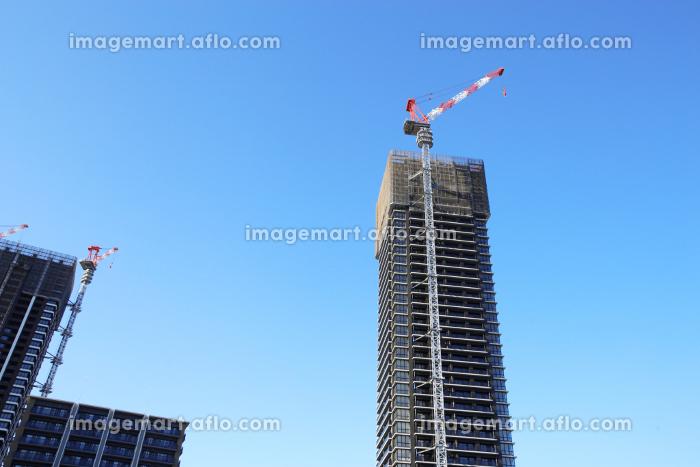 マンション・ビルの建設現場の販売画像
