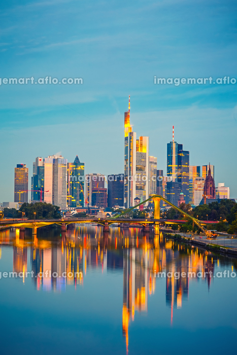 Frankfurt after sunsetの販売画像