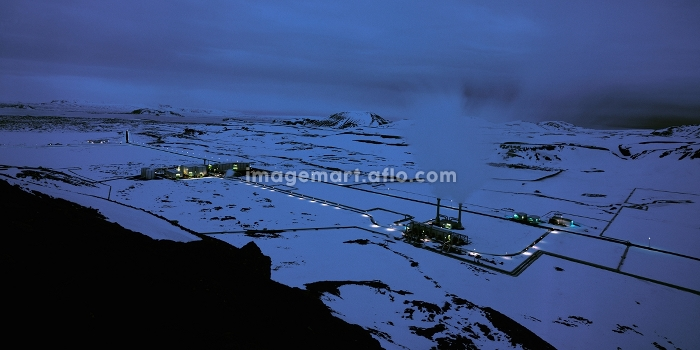 Aerial view of rural power stationの販売画像