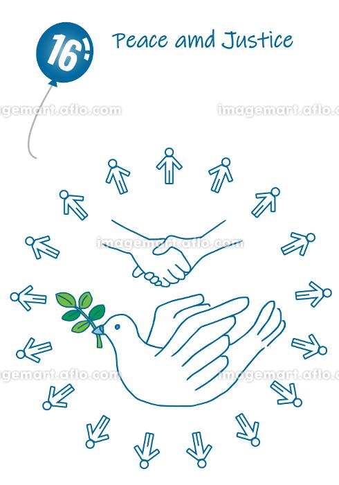 平和と公正イメージのシンプルタッチイラスト16の販売画像