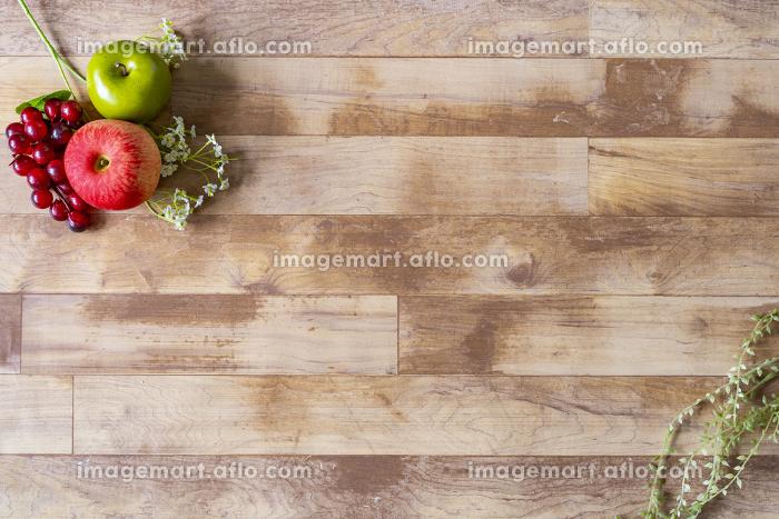 グリーンのある木目の背景素材の販売画像