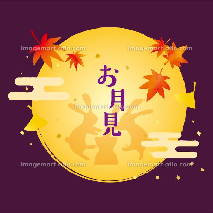 秋のお月見の背景素材の販売画像