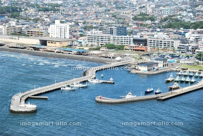 江の島から望む片瀬漁港の販売画像