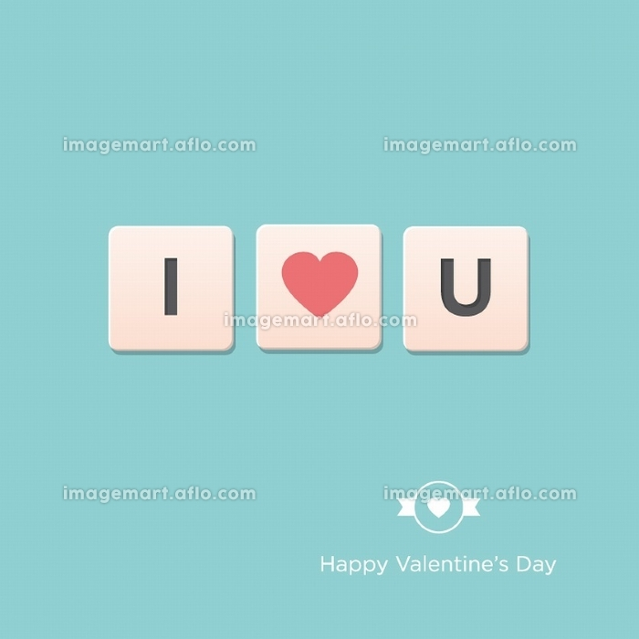 I love u.Valentines day card. Editable vector design.