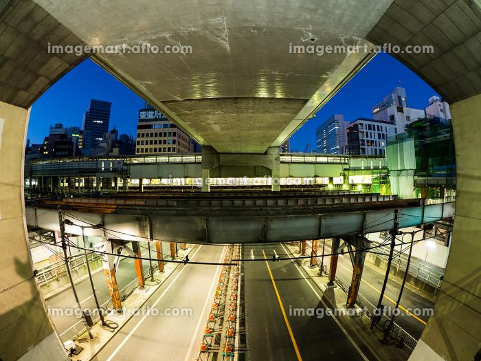 渋谷駅前 夜景 2017年2月の販売画像