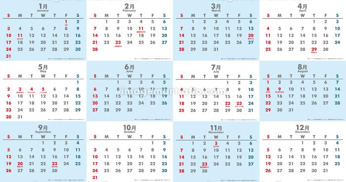 日本令和3年21年カレンダー素材イラストデータ 7月 3 イメージマート