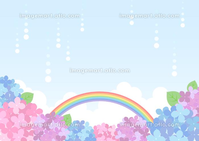 梅雨の紫陽花 背景フレーム ☆ バリエーション多数の販売画像
