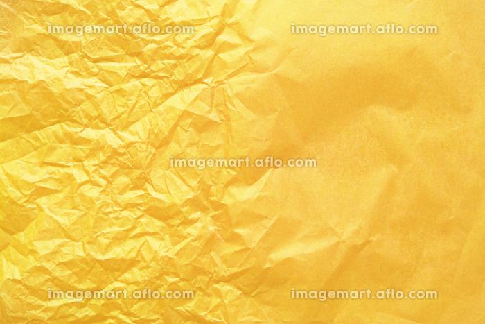 半分しわくちゃな黄色いお花紙の販売画像