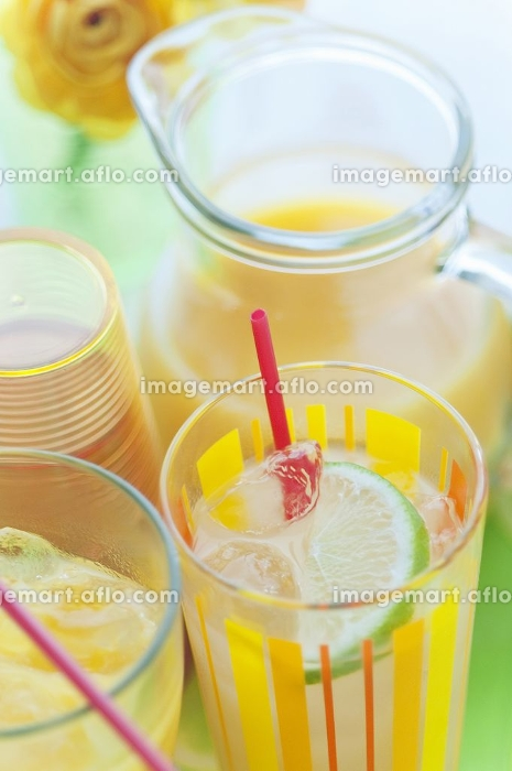 オレンジジュースの販売画像