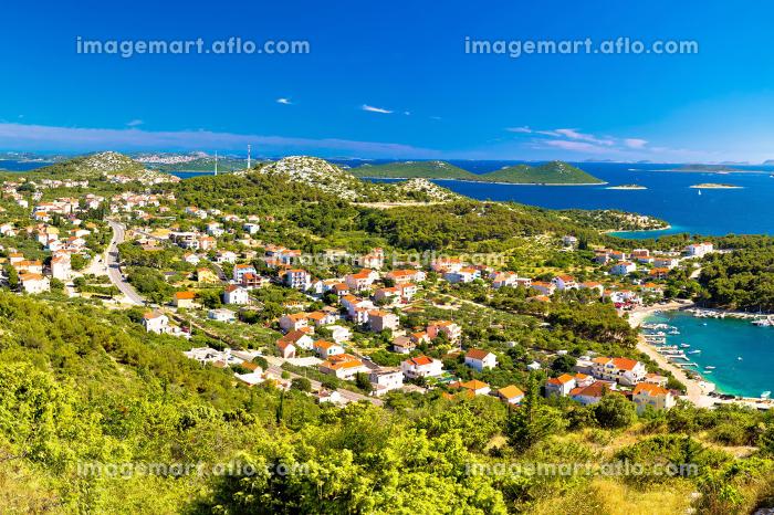 Drage Pakostanske village coast aerial viewの販売画像