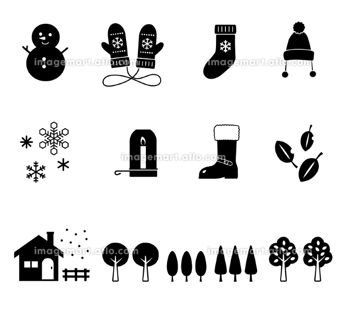 冬のアイコンセットの販売画像