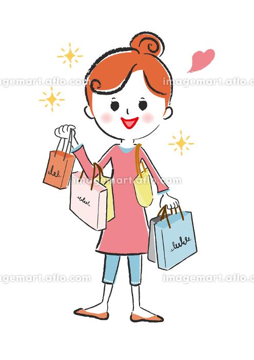 女性、ベクター、人物、ライフスタイル・生活、かわいいの販売画像