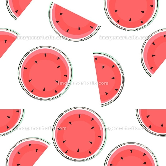 Seamless Pattern Background with Watermelon. Vector Illustration. EPS10