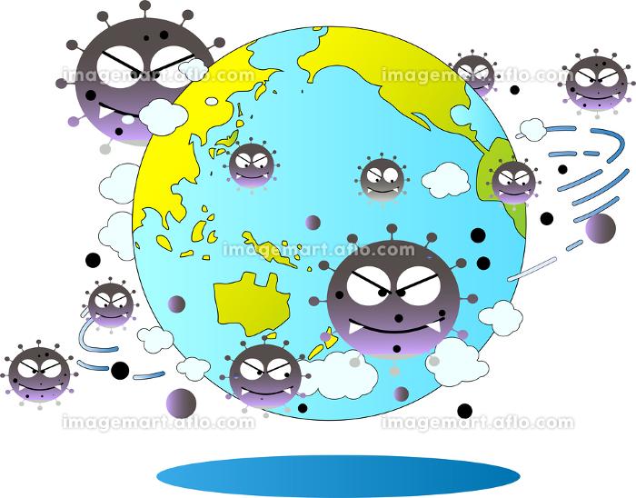 新型コロナウイルスに感染された世界の販売画像