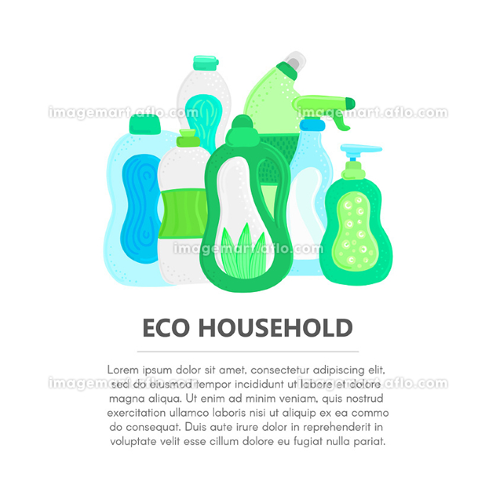 Eco friendly household cleaning supplies. Natural detergents. Products for house washing. Non chemical cleanersの販売画像